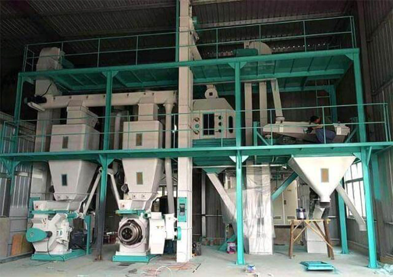 Animal Feed Processing Equipment Simple Feed Pellet production Line Supplier