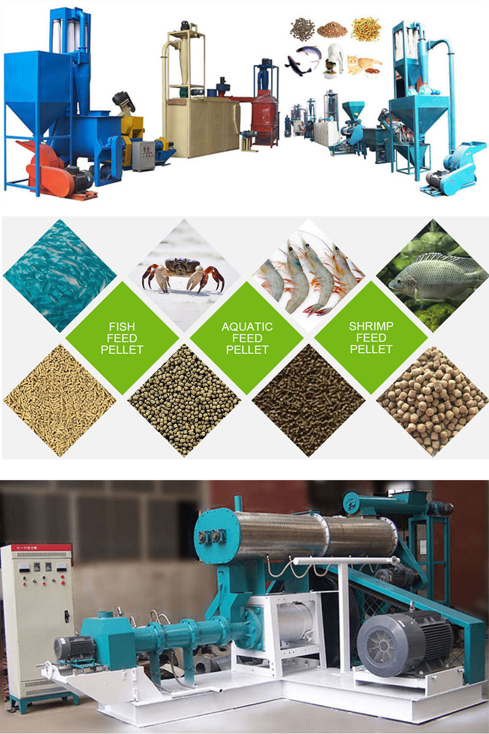 Fish Feed Pellet Making Machine Wet Type Fish Feed Extruder