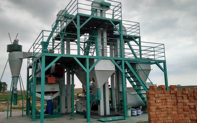 Feed Mill Equipment In Animal Feed Pellet Production Line