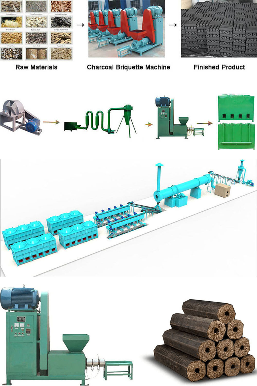 Applications Of Biomass Charcoal Briquette Machine
